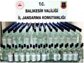 Jandarmadan Kaçak Alkol Operasyonu