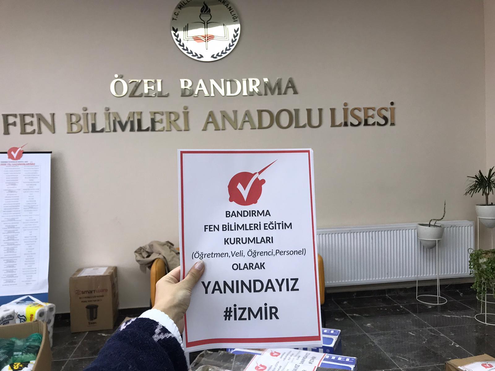 FEN BİLİMLERİ ÖĞRENCİLERİ DE İZMİR'İN YANINDA
