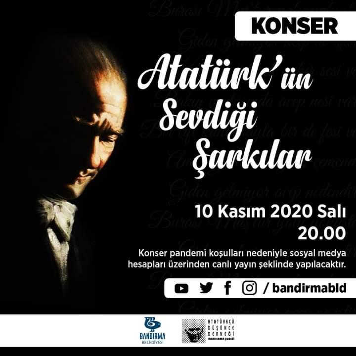 BELEDİYE VE ADD'DEN SANAL KONSER