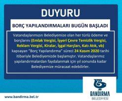 BELEDİYE'DEN MÜJDELİ HABER BORÇ YAPILANDIRMALARI BAŞLADI