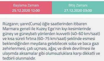 METEOROLOJİK DEĞERLENDİRME ( RÜZGARLI VE FIRTINALI HAVAYA DİKKAT !!! )