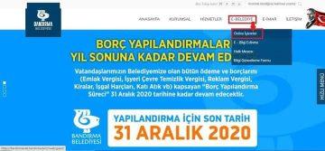 BELEDİYE'DEN SON HATIRLATMA YAPILANDIRMADA YARIN SON GÜN