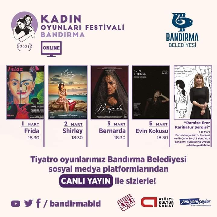 BANDIRMA BELEDİYESİ'NDEN TİYATRO FESTİVALİ